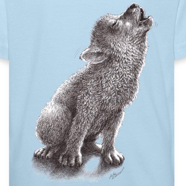 Junger heulender Wolf  T-shirt