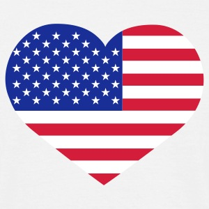 Weiß Love USA © T-Shirts - Mannen T-shirt