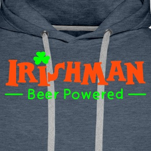 Green Beer Powered Irish Man Hoodies & Sweatshirts - Men's Premium Hoodie