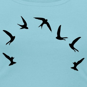 Sky blue Mauersegler / swifts (1c) Women's T-Shirts - Women's Scoop Neck T-Shirt