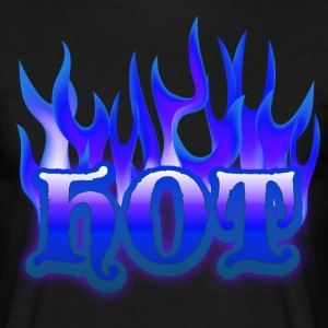 hot_flamez_blue T-skjorter - T-skjorte for menn