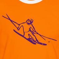 Design ~ Telemark Skier Contrast Tee