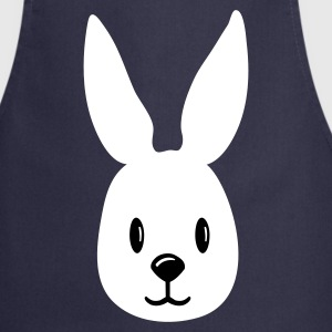 Navy bunny hase häschen rabbit face   Aprons - Cooking Apron