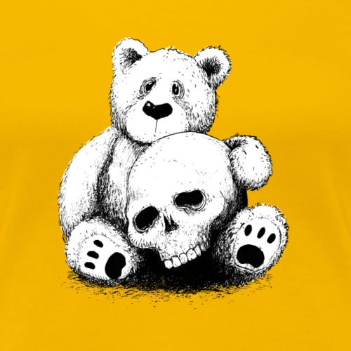 Bear With Skull BlackWhit