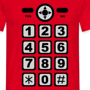 Rouge mobile phone T-shirts - T-shirt Homme