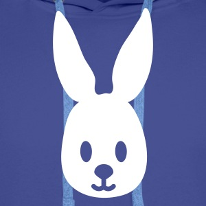 Royal blue easter bunny rabbit hase sweetheart Hoodies & Sweatshirts - Men's Premium Hoodie