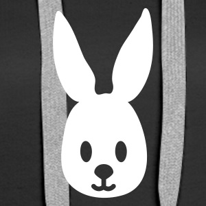Black easter bunny rabbit hase sweetheart Hoodies & Sweatshirts - Women's Premium Hoodie
