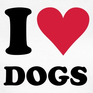 Wit I love dogs - hond, honden T-shirts - Vrouwen T-shirt
