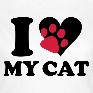 Blanc I love my cat - chat, chats T-shirts - T-shirt Femme