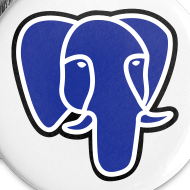 Design ~ PostgreSQL blue elephant badge