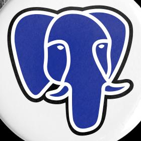 Design ~ PostgreSQL blue elephant badge