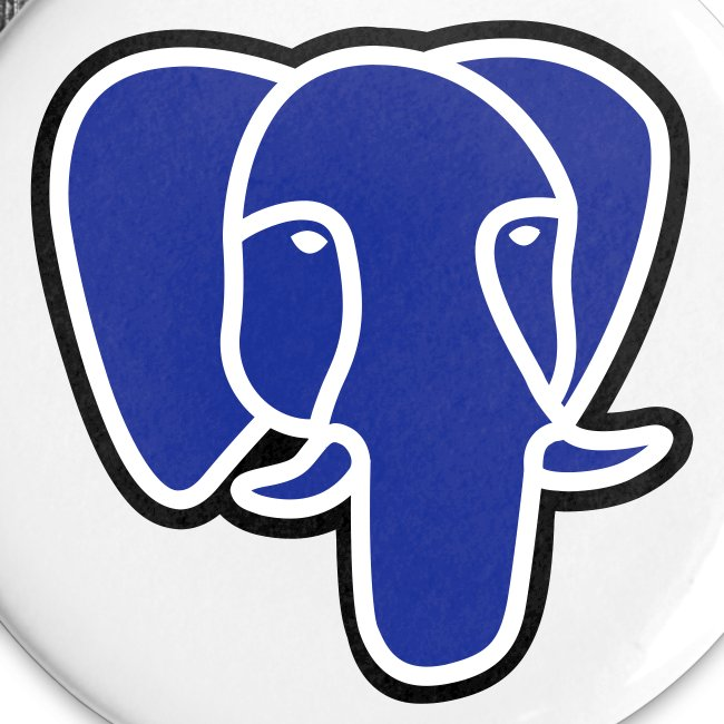 PostgreSQL blue elephant badge
