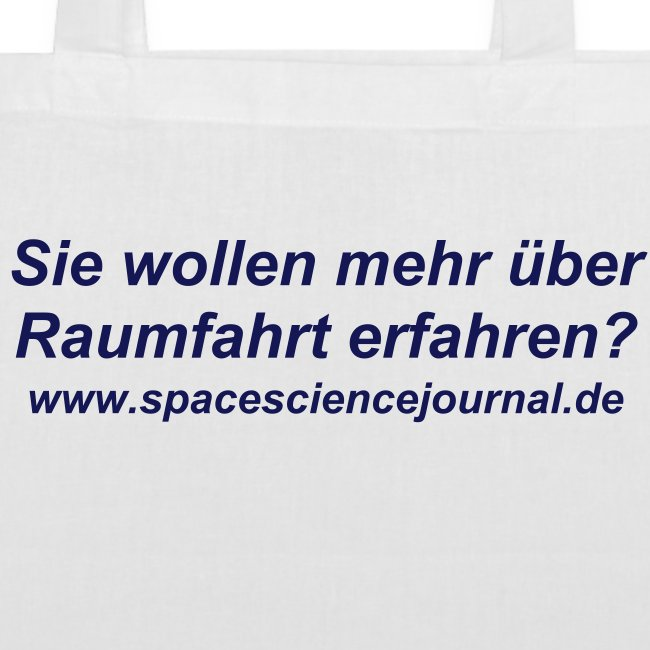 Space Science Journal Tasche 2, weiß
