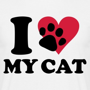 Blanco I love my cat - gatos, gato Camisetas - Camiseta hombre