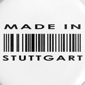 Hvid Stuttgart Buttons/Badges - Buttons/Badges stor, 56 mm
