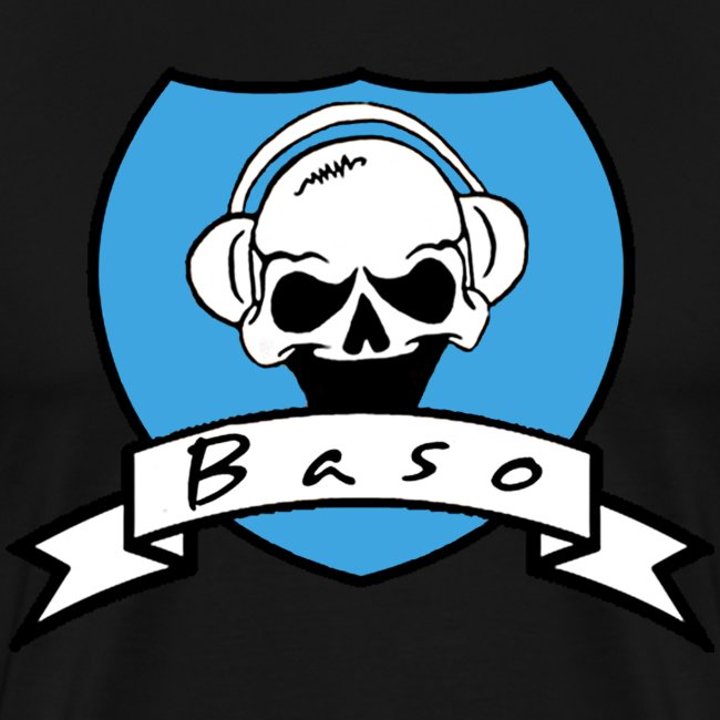 Baso - logo - dark shirt