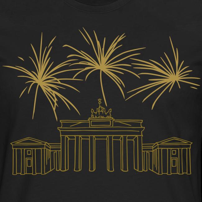 BERLIN Goldregen Feuerwerk Silvester am Brandenburger Tor.