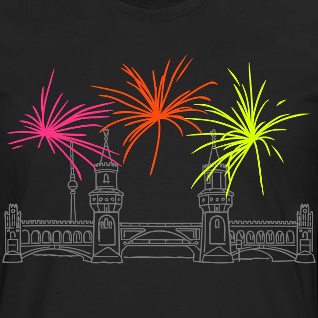 Feuerwerk Silvester an der Oberbaumbrücke Berlin
