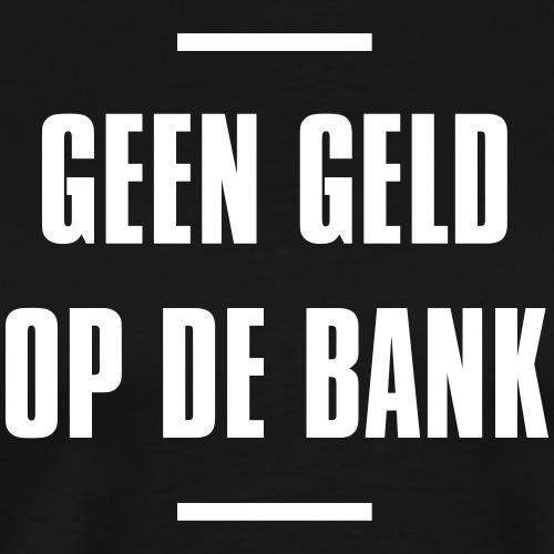 Geen geld op de bank