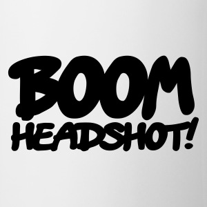 White boom headshot! 1c UK Mugs  - Mug