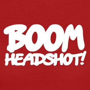 Dark red boom headshot! 1c UK Organic Products - Women's Organic T-shirt