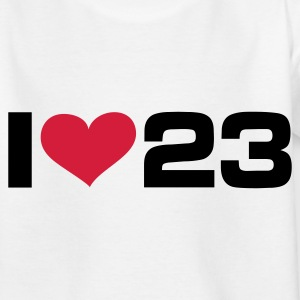 Weiß I LOVE 23 - eushirt.com Kinder T-Shirts - Teenager T-Shirt