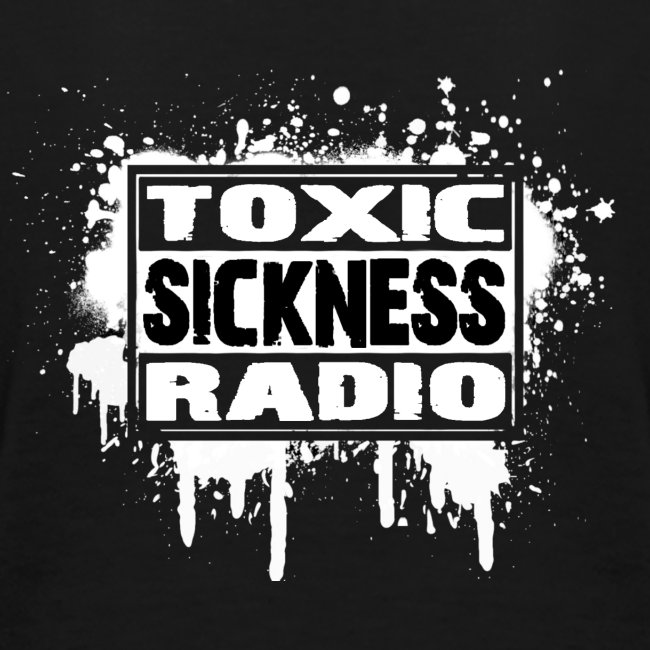 Where Words Fail, Music Speaks T-Shirt With Toxic Sickness Radio Logo On Back