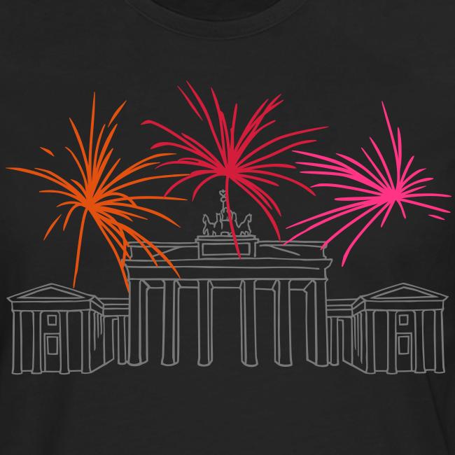 Silvester in Berlin: Feuerwerk am Brandenburger Tor