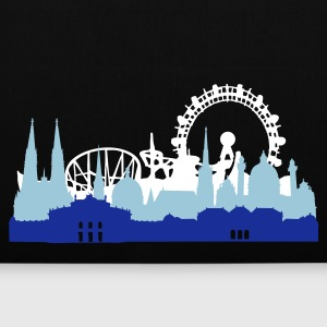 Black Wien Skyline Bags  - Tote Bag