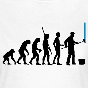 Weiß evolution_maler_a_2c T-Shirts - Frauen T-Shirt