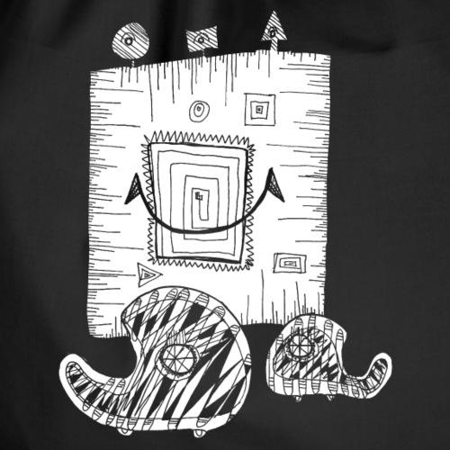 Noahs Kritzelmonster 9 (für dunkle Shirts)