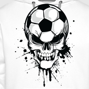 White soccer skull kicker ball football pirat Hoodies & Sweatshirts - Men's Premium Hoodie
