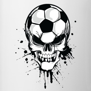 White soccer skull kicker ball football pirat Mugs  - Mug
