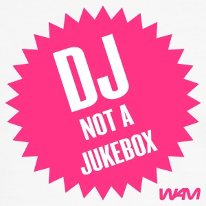 Hvit/svart dj not a jukebox by wam T-skjorter - Kontrast-T-skjorte for menn