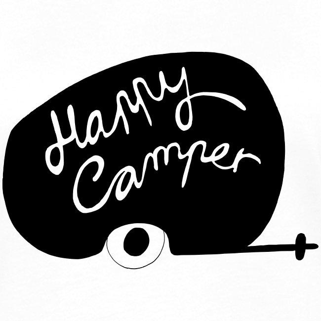 Happy Camper Frauen Kontrast T-Shirt