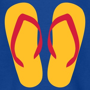 Royalblau Flip Flops - Sommer Kinder T-Shirts - Teenager T-Shirt