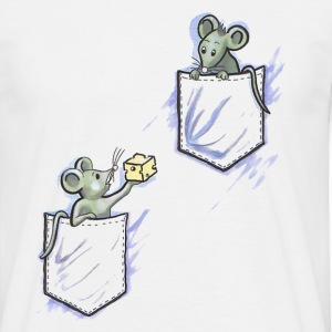 mice in pocket - T-shirt herr