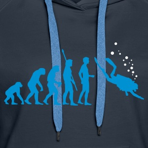 evolution_taucher_c_2c Sweat-shirts - Sweat-shirt à capuche Premium pour femmes