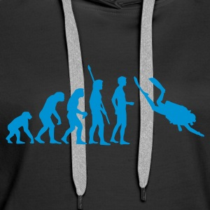 evolution_taucher_a Sweat-shirts - Sweat-shirt à capuche Premium pour femmes