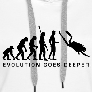 evolution_taucher_b Hoodies & Sweatshirts - Women's Premium Hoodie