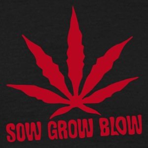Zwart Sow Grow Blow - Cannabis Levenscyclus T-shirts - Mannen T-shirt