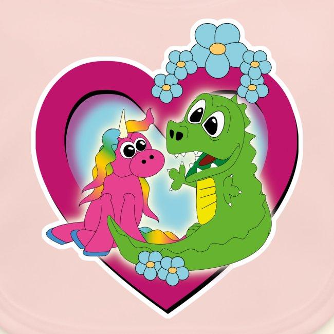 unicorn and dragon - best friends