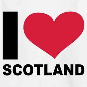 Weiß I LOVE Scotland - eushirt.com Kinder T-Shirts - Teenager T-Shirt