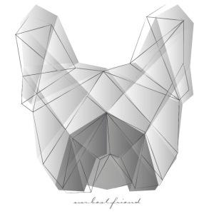 Geometric Frenchie white
