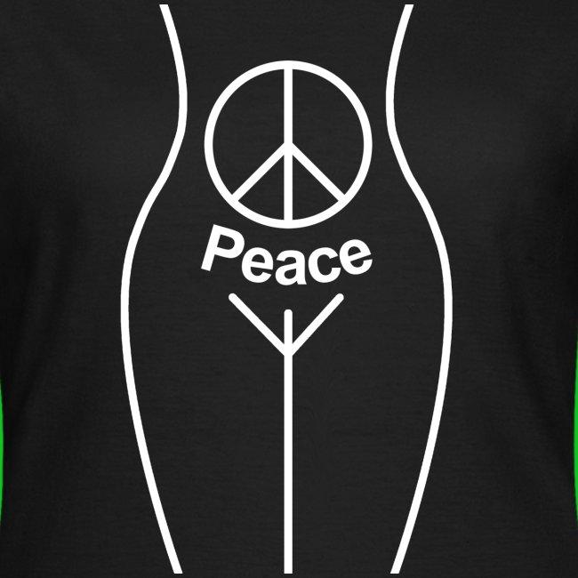 Peace Pubic dames t-shirt