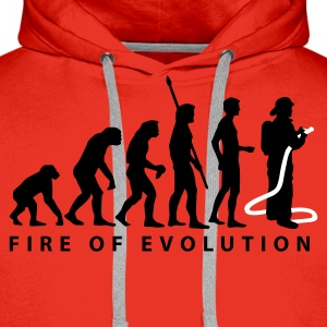 evolution_feuerwehr_2c Sweat-shirts - Sweat-shirt à capuche Premium pour hommes