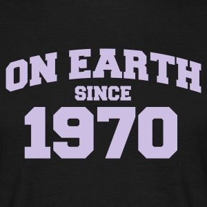 Sort on earth since 1970 T-shirts - Herre-T-shirt