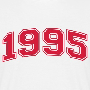 White 1995 Men's T-Shirts - Men's T-Shirt