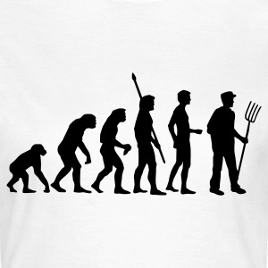 Weiß evolution_bauer_b T-Shirts - Frauen T-Shirt