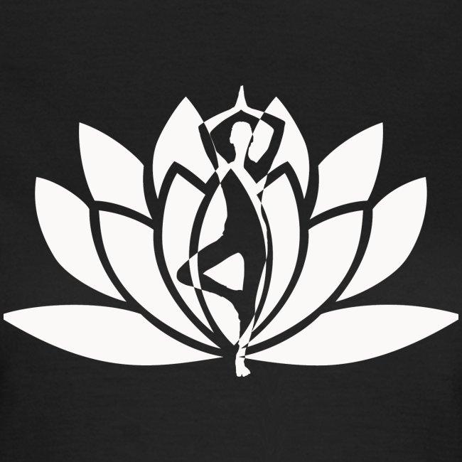 Lotus vrouw silhouet dames t-shirt